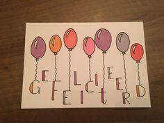 Birthday kaartje