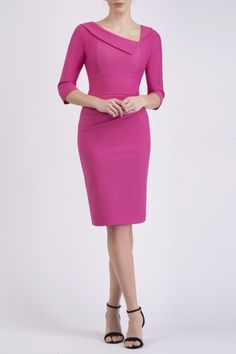 Diva Sultan Pencil Wiggle Dress - from Diva Catwalk UK Formal Dresses With Sleeves, Work Dresses For Women, Simple Dresses, Elegant Dresses, Pretty Dresses, Beautiful Dresses, Casual Dresses, Office Dresses, Dress Outfits