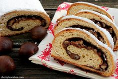 Holiday Stollen! So much yummy cinnamon and sugar I want to try it as french toast!
