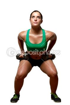 Female exercies with free weights — Stock Image #44850565