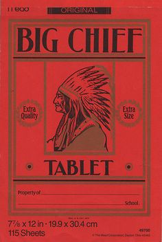 Big Chief Tablet - Mead - 1990's by JasonLiebig, via Flickr