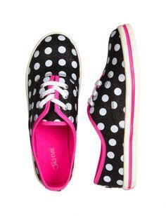 Glitter Dot Canvas Sneakers