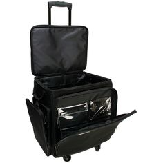 GOGO 300 Arts and Crafts Black Spinner Upright Tote Bag | Overstock.com Shopping - The Best Deals on Totes & Bags