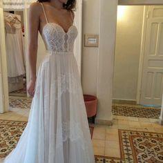 Kate, looking gorgeous in our studio in Haifa  .  .  .  .    #realbrides #futurebride #futuremrs #weddingdress #gown #fashionista #fashion #fashionbride #fashionblogger #lace #silk #boho #bohochic #bohemian #love #lovely #instamood #instabride #instadaily