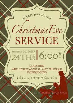 christmas eve service invitation christmas eve candle light service christmas celebration church card printable jesus manger - Ccv Christmas Services