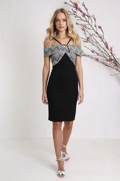 Fashion Frenzy Harissa Dress Black & White - Niki Belle