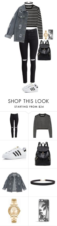 """Untitled #2538"" by anisaortiz ❤ liked on Polyvore featuring H&M, TIBI, adidas, Humble Chic, Michael Kors and Zero Gravity"
