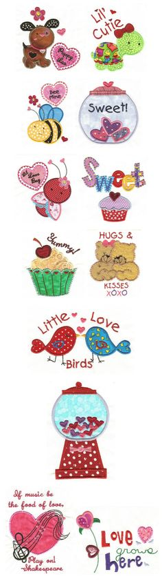 Embroidery | Free Machine Embroidery Designs | Sweet Valentine Applique