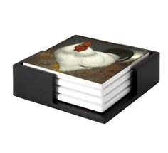 White Rooster Jan Mankes Until his marriage with Annie Zernike, Mankes lived with his parents. Ceramic Coasters, Exhibition Space, Decorative Tile, Old Master, Wooden Tables, Art Reproductions, Coaster Set, Contemporary Artists, Masters