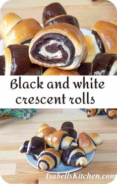 Black and white crescent rolls - video recipe - isabell's kitchen