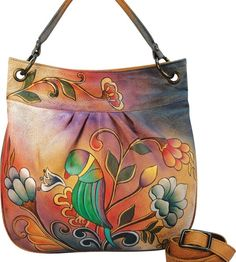 c398ed493b This Handpainted Large Leather Convertible Tote is a perfect example of  another high end