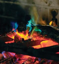The hall we've rented has fireplaces. THIS IS AWESOME    Great idea: Turn your fireplace into a light show with rainbow fire crystals | Offbeat Home