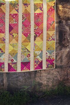 Spectrum Quilt - A pattern by Alison Glass | by Alison Glass. Large hourglass blocks in specific color combinations.