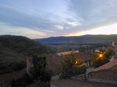 Espectacular aterdecer del que hemos disfrutado desde la terraza-mirador. #hospederiaallepuz #hospederiasaragon