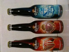 Limited Edition Corona Extra Beer Soccer 2011.  Necaxa, Toluca & Puebla.