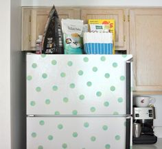 FRIDGE MAKEOVER WITH WASHI TAPE