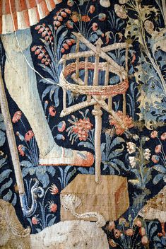 Late Medieval tapestry in the Louvre Museum showing a swift.  Ala Professor Michael J. Fuller, Ph.D,Professor of Anthropology, St. Louis Community College.