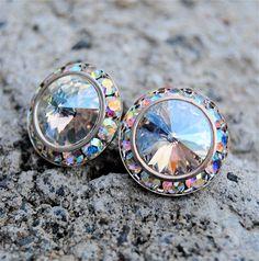 Aurora Borealis Earrings  Sugar Sparklers  Swarovski by MASHUGANA, $34.50 -- These are absolutely STUNNING