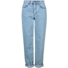 Boyfriend Style Jeans by Boutique ($100) ❤ liked on Polyvore featuring jeans, rolled jeans, boyfriend jeans, blue jeans, boyfriend fit jeans and topshop boyfriend jeans