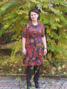 sewing wool dress