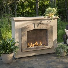 small gas outdoor fireplaceno chimney needed Could be perfect