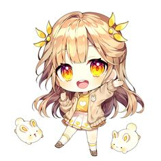 Cute Anime Chibi, Kawaii Chibi, Kawaii Anime Girl, Anime Art Girl, Shadow Creatures, Cute Creatures, Chibi Girl Drawings, Kawaii Drawings, Cute Little Drawings