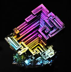 Guys! This is bismuth and its made by NATURE! The largest samples of bismuth can…