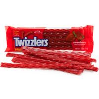 Twizzlers Red Candy: Mix one part cherry flavored cough syrup, one part corn syrup & one part glue and you have this filling-removing snack