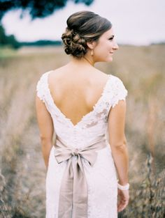 Hairstyle | Rustic Elegance | Perry Vaile Photography | Read more - http://www.stylemepretty.com/2013/11/22/north-carolina-cotton-farm-wedding-from-perry-vaile-photography/