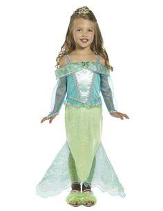 Meerjungfrau Prinzessin Kinder-Kostüm, blau-grün