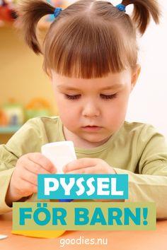 Barn älskar pyssel - Här hittar nu några praktiska pyssel att göra när barnen är hemma och behöver något att göra. #pyssel #goodies Goodies, Sweet Like Candy, Treats, Gummi Candy, Sweets
