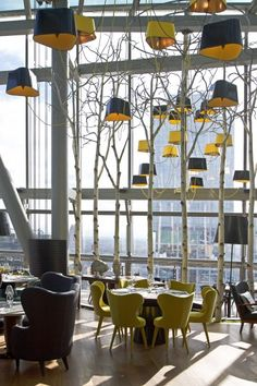 Sixty, the new restaurant on 62 floor of building in Moscow. The highest restaurant in Europe. Great Atmosphere