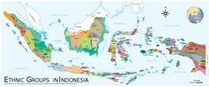 Indonesia Ethnic Groups Map
