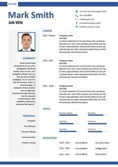 Professional Curriculum Vitae / Resume Template Sample Template of a ...