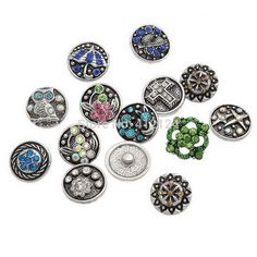 d.i.y. snap on jewelry | 150 Pcs Mixed DIY Snap Press Buttons Click Metal Fit Bracelet Colorful ...