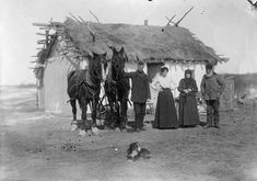 The Schwarz family, Saskatchewan, ca. 1903. They were one of the many Jewish families that settled in western Canada after pogroms and other cruelty in Russia in the late 19th century....