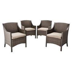 Casetta 4-Piece Wicker Patio Dining Chair Set - Threshold™