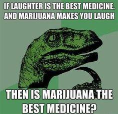If Laughter is the best #medicine and #marijuana makes you laugh.Then marijuana is the best medicine? #medicalcannabis #CannabisStrain