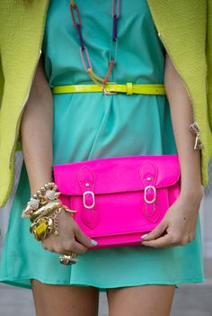 yay for neons and bright pops of color!