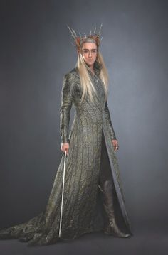 Thranduil, Hobbit (LOOK at the seams on that coat!)
