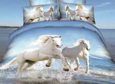 Queen's Two White Running Horses Blue and White Sea Beach Prints Adult Double Bed 5pcs Queen Size 100% Cotton 800 Thread Count 3d Bedding Sets Bed Duvet/comforter/quilt Cover Sets Linens Sheet Sets with 3kg White Queen Size Comforter/quilt/duvet Queen's,http://www.amazon.com/dp/B00IIHRNPM/ref=cm_sw_r_pi_dp_EtLetb0XCGTC9CEF