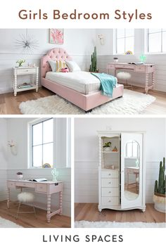 Girls bedroom ideas - design a space that your child will love with fresh + fun styles. Design A Space, Small Room Design, Teen Girl Bedrooms, Big Girl Rooms, Kids Rooms, Girl Bedroom Designs, Bedroom Styles, Teen Furniture, Bedroom Furniture