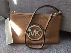 MK Wristlet in Peanut New with tags in Clothing, Shoes & Accessories, Women's Handbags & Bags, Handbags & Purses