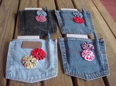 Crafts using blue jean pockets Jean Crafts, Denim Crafts, Button Crafts, Pocket Craft, Diamond Party, Denim Purse, Denim Ideas, Recycled Denim, Diy Arts And Crafts