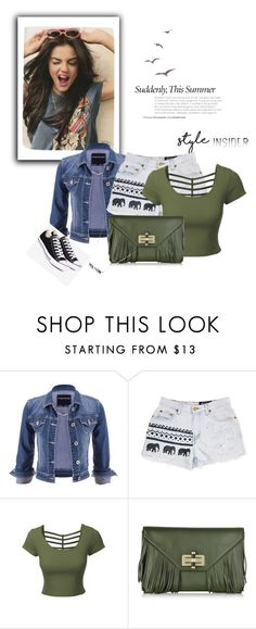 """Untitled #441"" by fashion-freak-out ❤ liked on Polyvore featuring maurices, LE3NO, Diane Von Furstenberg, Converse, contestentry and styleinsider"