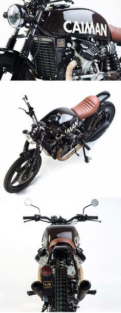 City Scrambler: Caiman's Honda - Autos Online Cx500 Cafe Racer, Cafe Racer Bikes, Scrambler Motorcycle, Motorcycle Style, Cafe Racers, Bobber, Ducati 900ss, Honda Cx500, Honda Scrambler