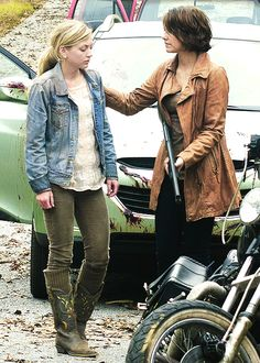 """""""I know it looks bad. We've all been through hell and worse, but at least we found each other. I wasn't sure, I- I really wasn't. But we did. We're together. We keep it that way."""" Maggie Greene"""