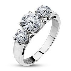 Enchantment - Astonishing Piece Of Art Stainless Steel Ring with Cubic Zirconias