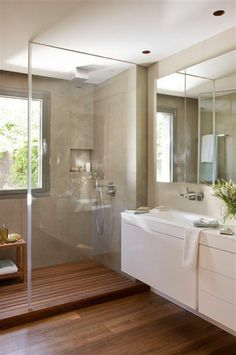 Tiny house bathroom - Looking for small bathroom ideas? Take a look at our pick of the best small bathroom design ideas to inspire you before you start redecorating. Laundry In Bathroom, Bathroom Renos, Bathroom Interior, Modern Bathroom, Bathroom Ideas, Bathroom Remodeling, White Bathroom, Remodeling Ideas, Small Bathrooms