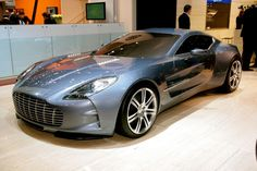 """2nd most expensive ride!!!  . Aston Martin One-77 $1,850,000. The name """"One-77"""" says it all: beauty and power in One, limited to 77 units. With 750 hp, it is able to travel from 0 to 60 mph in 3.4 seconds and reaching a maximum speed of 220 mph (354 km/h)."""